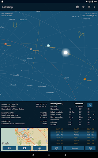 Astrolapp Planets and Sky Map app for Android screenshot