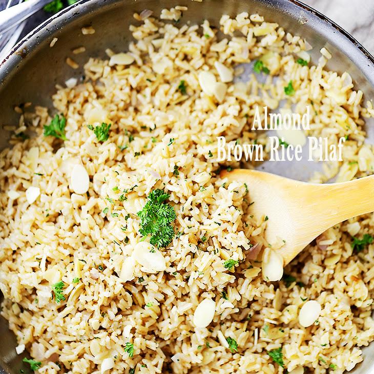 Almond Brown Rice Pilaf