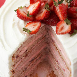 Six-Layer Strawberry Cake
