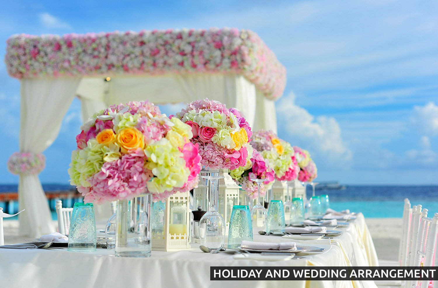 holiday and wedding arrangement