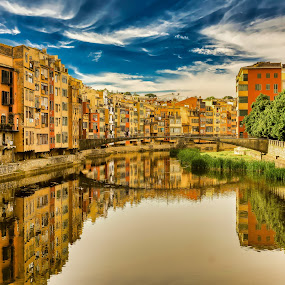Giora Spain by Fabienne Lawrence - City,  Street & Park  City Parks ( spain, reflection, buildings, water, landscape )