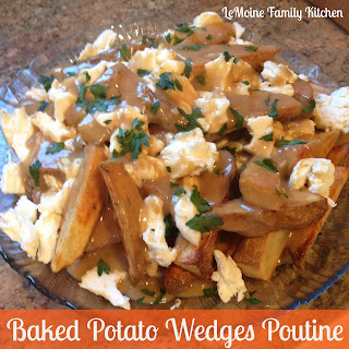Baked Potato Wedges Poutine