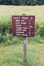 Photo: Sign to get to sites at Knight Island State Park