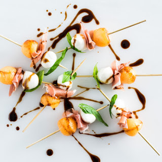 Melon, Prosciutto and Mozzarella with Balsamic Glaze Recipe