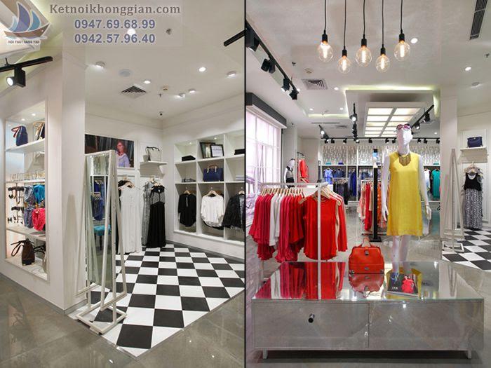 Thiết kế shop thời trang méo mó ko vuông