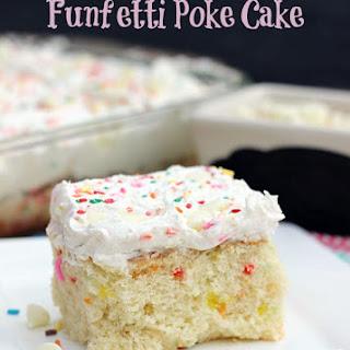 White Chocolate Funfetti Poke Cake