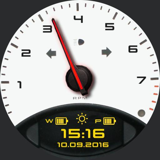 Watch face of the 911
