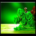 rosa verde vivo wallpaper icon