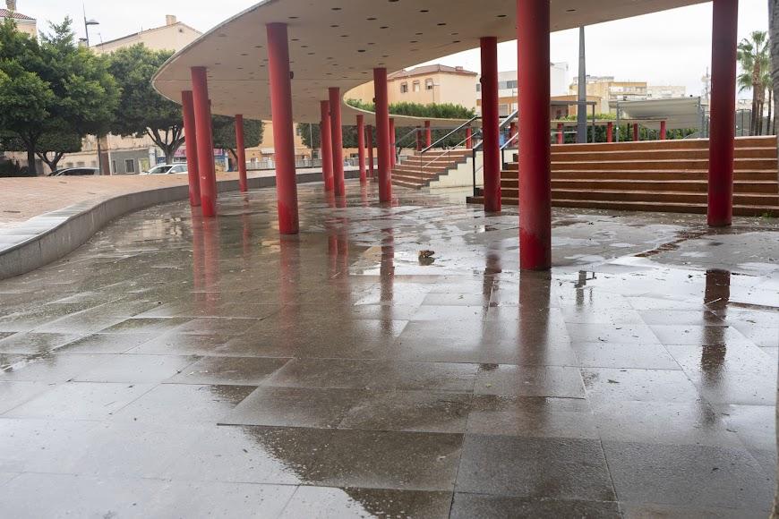 Zona alta de la Rambla de Almería.