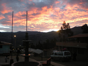 Photo: A typical though nonetheless stunning sunset in our town.