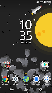 XPERIA™ Live in Space Theme - náhled