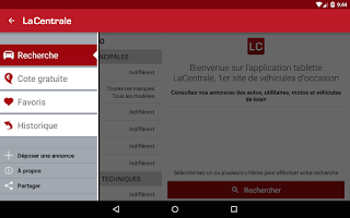 Screenshot of La Centrale voiture occasion