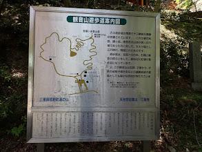 観音山遊歩道案内図