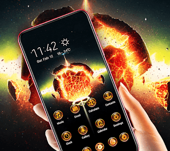 Planet Explosion Flame Galaxy Theme 2019 2