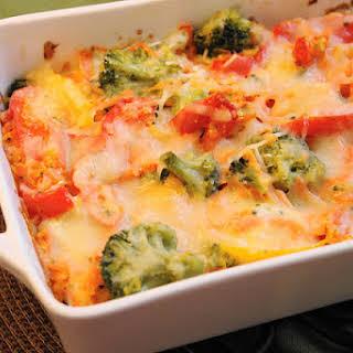 Bell Pepper & Broccoli Vegetable Lasagna.