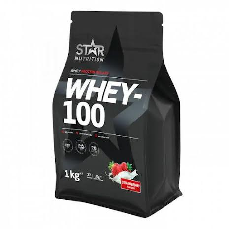Star Nutrition Whey-100 1kg - Jordgubb