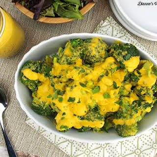 Vegan Broccoli with Cheese Sauce.
