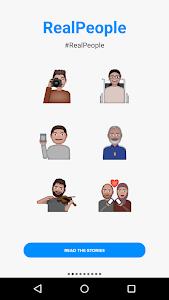 Refugee Emojis Keyboard screenshot 1
