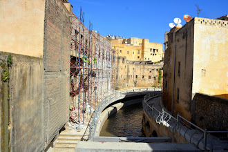 Photo: The government is making a riverwalk on the river that runs through the medina