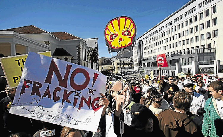 Fracking  protests. Picture: THE TIMES/ SHELLEY CHRISTIANS