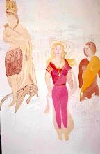 Photo: L'amerique ou Trétralogies (150*100 cm) huile sur toile 2004                         Photo Argentique