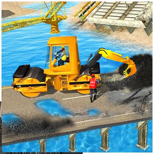 Bridge Construction: Heavy Machinery