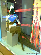 Photo: A mannequin modeling traditional Naxi/Dongbu fashion. The pose made me laugh out loud.