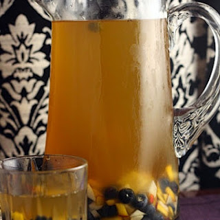 {Tazo Cookoff} Iced Ginger Tea with Honey-Macerated Fruit