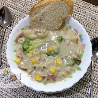 Bacon and Broccoli Mushroom Soup.