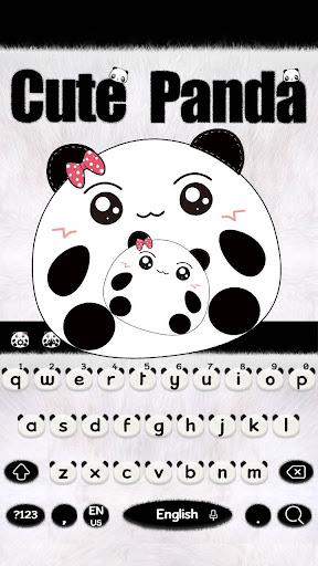 Cute Panda Keyboard Theme screenshots 7