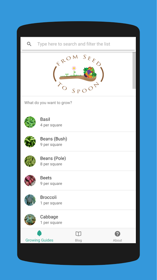 From Seed to Spoon - Vegetable Growing Guides- screenshot