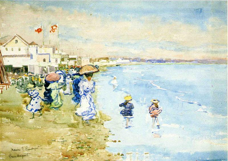 Revere Beach, Boston by Maurice Prendergast - circa 1897