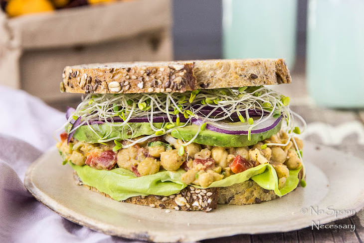 Smashed Chipotle Chickpea Salad Sandwich Recipe | Yummly