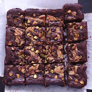 Fudgy Tahini Brownies.