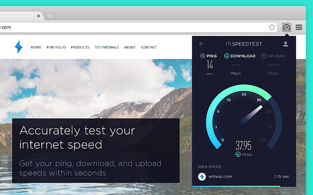 Speedtest by ookla chrome web store take a speedtest directly from your toolbar to quickly test your internet performance without interruption stopboris