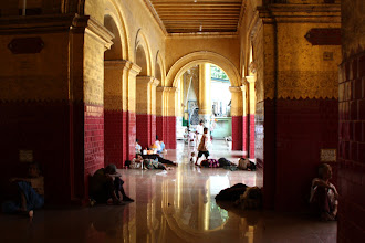 Photo: Year 2 Day 55 -  One of the Arches Reflected in Mahamuni Paya