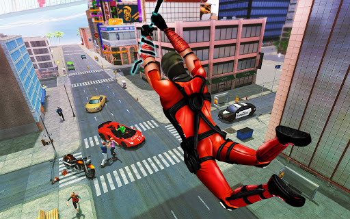 Flying Ninja Rope Hero: Light Speed Ninja Rescue apklade screenshots 1