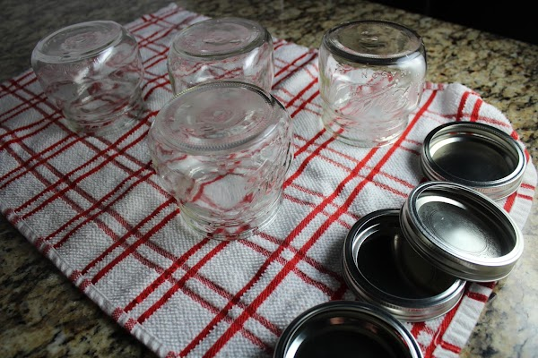Sterilize and prepare pint canning jars and lids as directed.