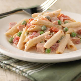 Creamy Ham and Penne Pasta.