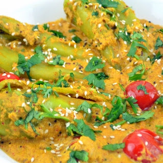 Mirch Ka Salan (Chill Pepper in Peanut, Coconut & Sesame gravy)