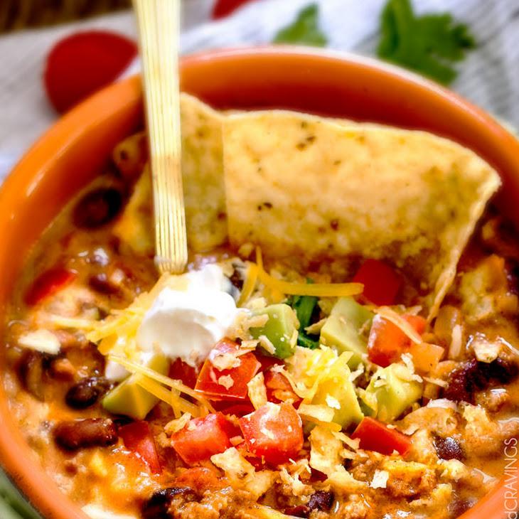 Cheesy Taco Soup Recipe