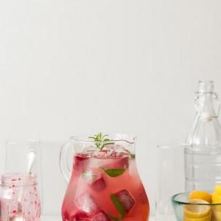 Lemon Verbena Lemonade with Smashed Blackberry Ice.
