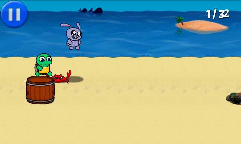 Turtle Rabbit Runner- screenshot