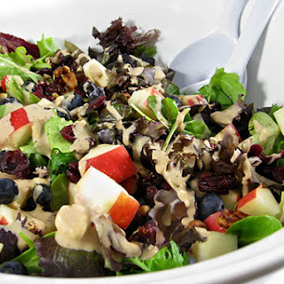Delectable Skinny Salad with Fruits, Nuts and Cheese