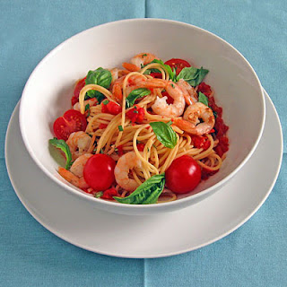Two Tomato Pasta with Spicy Shrimp