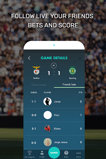 Kiss My Score - Bet free on soccer w/ friends for PC