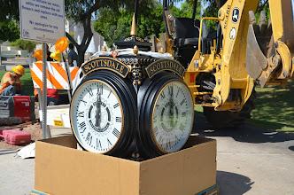 Photo: Unpacking the Scottsdale Rotary Clock