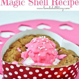 Colorful Magic Shell Recipe & Gluten Free Sweetheart Pizzookies.