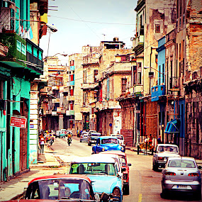 Havana by Cindy Walker - City,  Street & Park  Street Scenes (  )