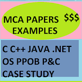 MCA Question Papers Samples